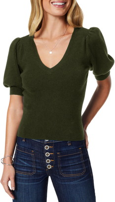 Ramy Brook Rory Short Sleeve Wool Sweater