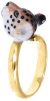 Nach Mini Leopard Adjustable Porcelain Ring