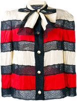 Gucci striped bow jacket - women - Silk/Polyamide - 42