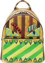 Fendi Multicolor Striped 'Bag Bugs' Backpack