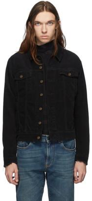 Saint Laurent Black Corduroy Classic Jacket