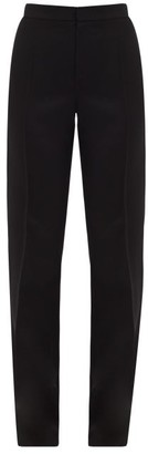 Pallas Paris - Gaumont Satin Side-striped Wool Tailored Trousers - Black