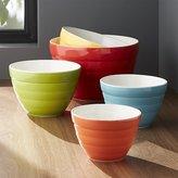 Crate & Barrel Set of 5 Baker Nesting Bowls