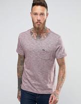 Lee Slub Pocket Melange T-Shirt Maroon