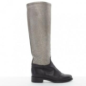 Chanel Metallic Leather Boots