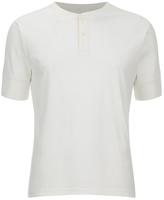 Universal Works Single Jersey Short Sleeve Eton Tshirt - Ecru