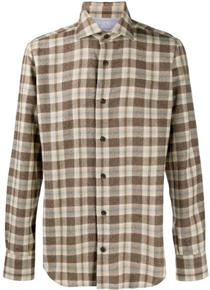 Eleventy Checked Flannel Shirt