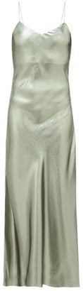 BLAZÉ MILANO Manipur Metallic Silk-blend Slip Dress - Green