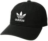 adidas Originals Relaxed Strapback Cap (Black/White 1) Caps