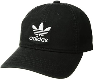 adidas Originals Relaxed Strapback Cap (Black/White 1) Caps