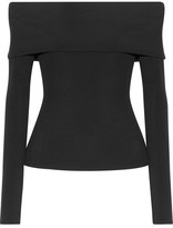 The Row Derian Off-the-shoulder Stretch-jersey Top - Black