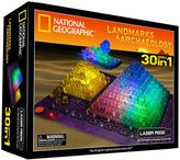 Laser Pegs National Geographic 30-in-1 Landmarks & Archaeology Light-Up Construction Set by