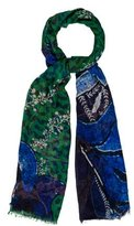 Yigal Azrouel Printed Multicolor Scarf w/ Tags