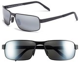 Maui Jim Men's 'Castaway - Polarizedplus2' 63Mm Polarized Sunglasses - Dark Gunmetal