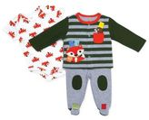 Taggies TaggiesTM Size 9M 3-Piece Take Me Home Fox Pant Set in Olive