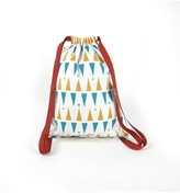 Nobodinoz Yellow and Blue Triangle Backpack
