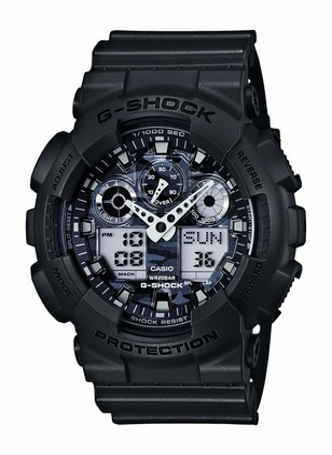 Casio 200M WR Shock Resistant Watch (Model: GA-100CF-8CR)