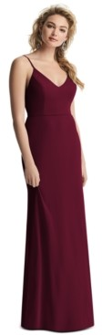 After Six Draped-Back Sleeveless Gown