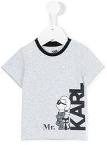 Karl Lagerfeld logo print T-shirt - kids - Cotton/Spandex/Elastane - 6 mth