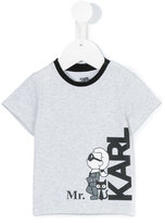 Karl Lagerfeld logo print T-shirt - kids - Cotton/Spandex/Elastane - 9 mth