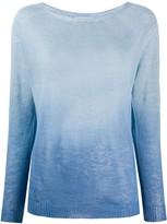 Zanone ombre print knit top