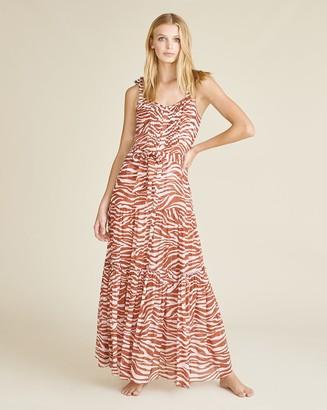 Veronica Beard Michi Zebra Cover-Up Dress