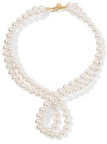 Stella McCartney Gold-plated faux pearl necklace