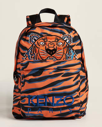 Kenzo Tiger Print Effect Embroidered Backpack