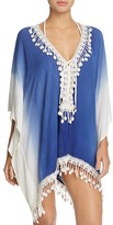 Surf Gypsy Ombré Lace-Up Tunic Swim Cover-Up