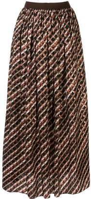 Kolor Pleated Metallic Skirt