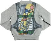 Junior Gaultier Backpack Printed Cotton Sweatshirt