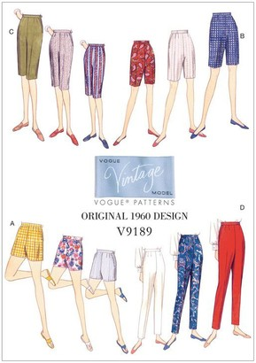 Vogue Women's Shorts and Trousers Sewing Pattern, 9189