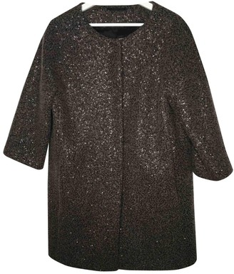 Herno Brown Wool Coat for Women