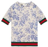 Gucci Girl's Herbarium Print Dress