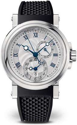 Breguet 42mm Marine GMT Watch w/ Rubber Strap, Black