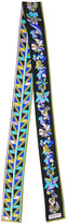 Emilio Pucci floral print skinny scarf - women - Silk - One Size
