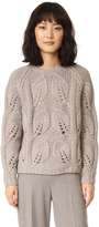 Lela Rose Leaf Knit Pullover