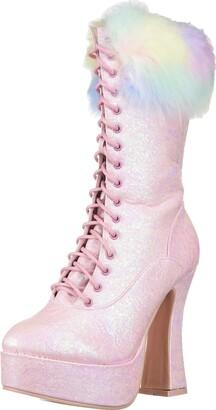 Ellie Shoes Women's 557-NORA Fashion Boot pnk 8 M US