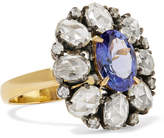 Amrapali 18-karat Gold, Sterling Silver, Diamond And Tanzanite Ring