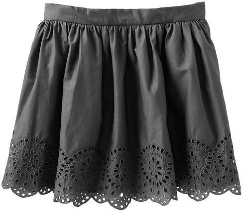 Gap Eyelet circle skirt