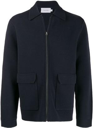 Calvin Klein zipped knit jacket