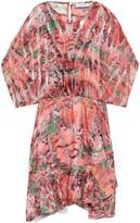 IRO Metallic Printed Fil Coupe Silk-blend Mini Dress