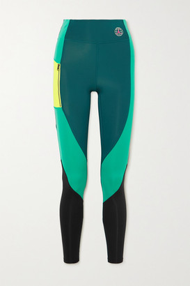 Nike Jordan Winter Utility Paneled Color-block Stretch Leggings - Green