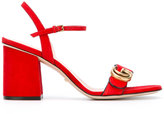 Gucci GG logo sandals - women - Leather/Metal (Other)/Calf Suede - 35