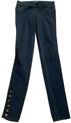 Juicy Couture Blue Cotton Trousers for Women