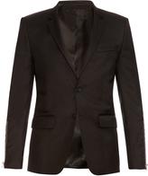 Givenchy Zip-sleeve wool-blend blazer