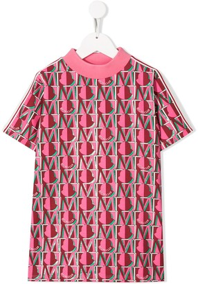 Moncler Enfant Logo Monogram-Print Shift Dress