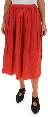 UMA WANG Raw Edge Midi Skirt