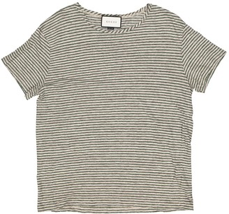Gucci Green Linen T-shirts