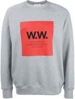 Wood Wood logo print sweatshirt - men - Cotton - S